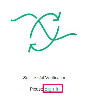Fcoin のメールアドレス確認後のサインイン画面